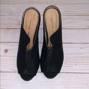 Chinese Laundry MEOW Wedge Black Shoe Size 9